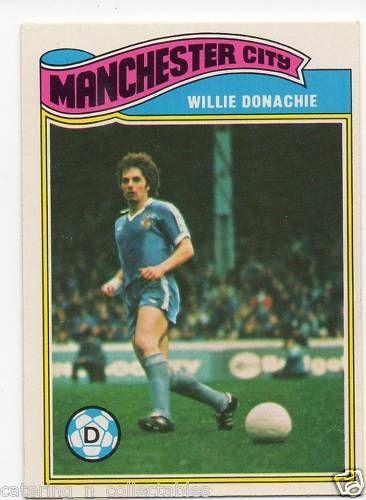 Willie Donachie Manchester 1970s football card