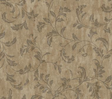 Weatherby Woods Stucco Scroll Coffee Wallpaper TG1947