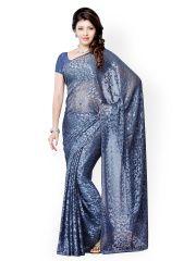 Diva Fashion Blue Synthetic Fashion Saree