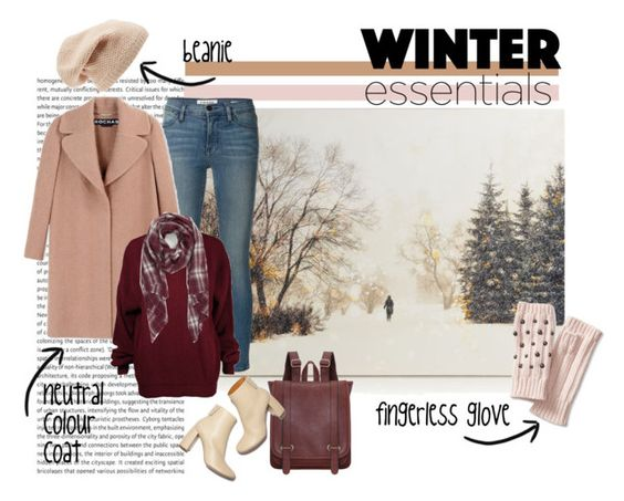 """""""cold weather"""" by chantique ❤ liked on Polyvore featuring Sole Society, Frame Denim, Rochas, Banana Republic, STELLA McCARTNEY and winteressentials"""
