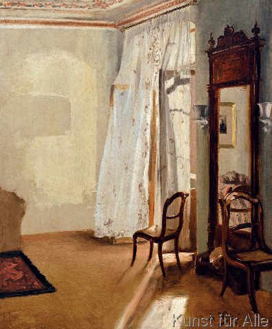 Adolph Friedrich Erdmann von Menzel - Das Balkonzimmer