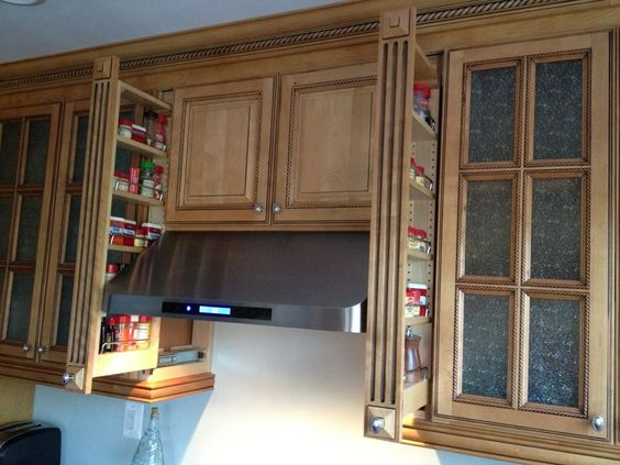 3 inch pullout kitchen spice rack cabinet | Upper Kitchen Cabinets ...
