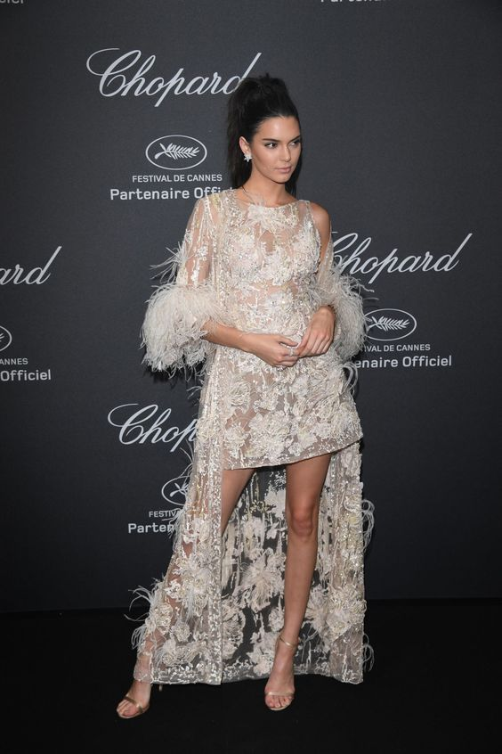 Kendall Jenner Partied With Scott Disick In the Most Gorgeous Dress Youve Ever Seen