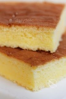 Yellow sponge cake can be cut into squares and easily decorated for a children's event or for the grown ups!