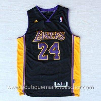 maillot nba pas cher Los Angeles Lakers Bryant #24 Noir nouveaux tissu 22,99€