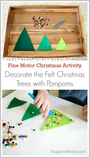 Decorate Christmas Tree Worksheet : Preschool activities christmas trees and felt
