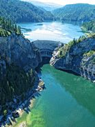 Seattle City Light -  Boundary dam on the Pend Oreille River.  Go for the tour. Near Metaline Falls