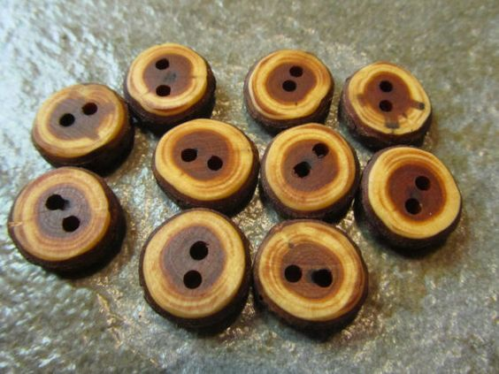 10 Yew Wood Tree Branch Buttons. About .50 by PymatuningCrafts, $8.50