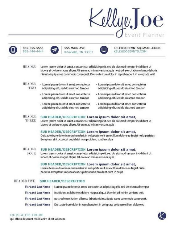 creative event planner resume - Google Search Professional - event planner resume
