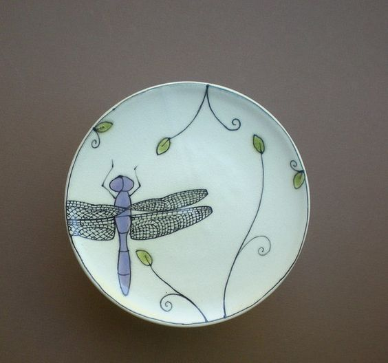 Catherine Reece, dragon fly plate