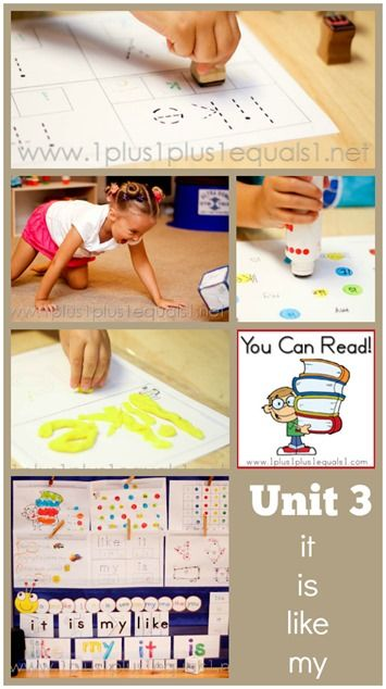 You Can Read Sight Words Unit 3 from @1plus1plus1 #kindergarten