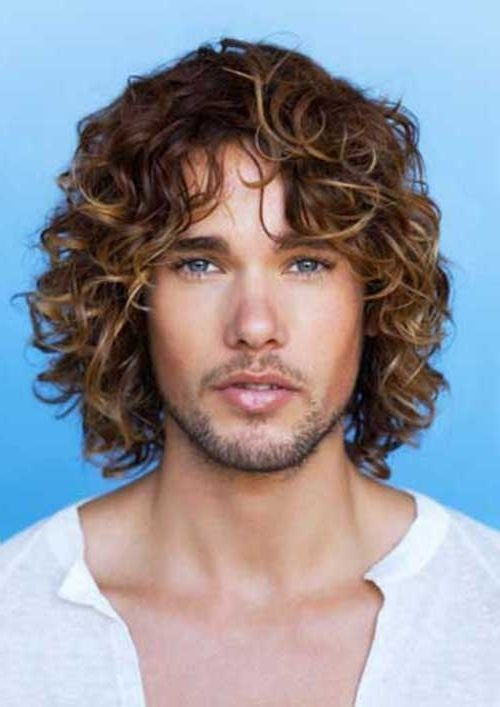 Long Curly Hair Mens Hairstyles