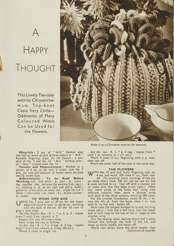 1940s Patterns to Knit | V&A