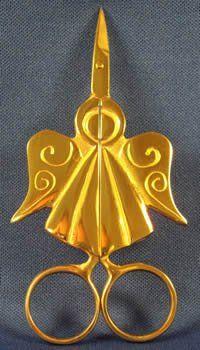 "These delightful Kelmscott Angel Scissors measure 3.75"" in overall length."