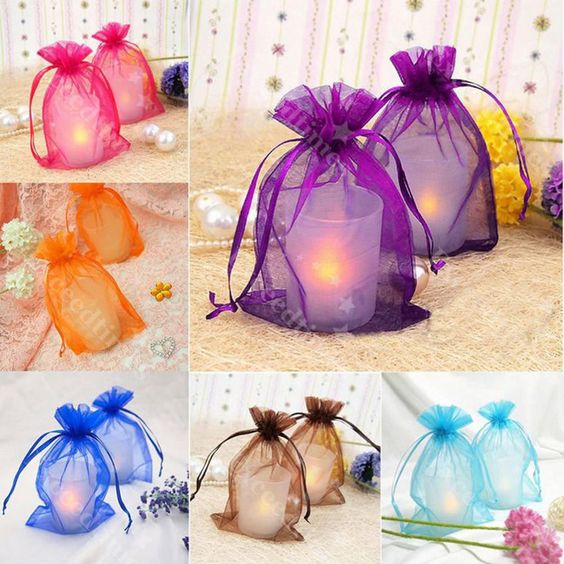 Wholesale Organza Jewellery Packing Pouches Wedding Party Favour Candy Gift Bags #Unbranded #AnyOccasion: