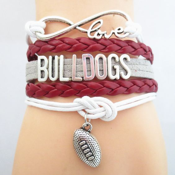 Infinity Love Georgia Bulldogs Football - Show off your teams colors! Cutest Love Georgia Bulldogs Bracelet on the Planet! Don't miss our Special Sales Event. Many teams available.
