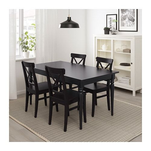 Ingatorp Extendable Table Black 61 84
