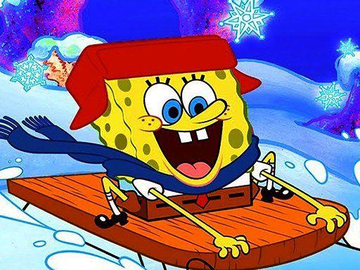 لعبة بازل تركيب صور سبونج بوب في الشتاء Spongebob Winter Puzzle Spongebob Spongebob Games Jigsaw Puzzles Online