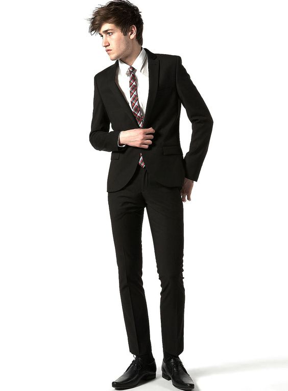 TOPMAN BLACK TEXTURED SKINNY SUIT | Fashion Crazed | Pinterest