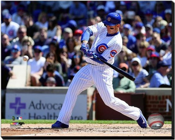 Anthony Rizzo Chicago Cubs -16 x 20 HD Photo on Gallery Wrapped Stretched Canvas