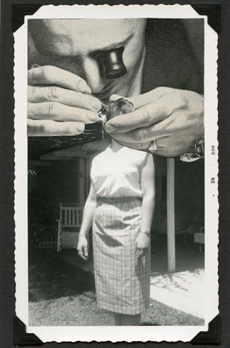 She Needed Her Head Examined, 2010.  Collage by Angelica Paez.