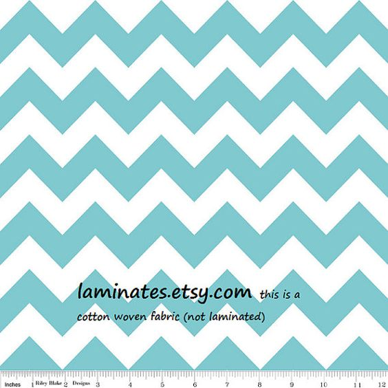 Aqua chevron stripe cotton fabric not laminated by Laminates, SOLD OUT