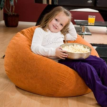 Gold Medal Small 105 Cocoa Microsuede Bean Bag
