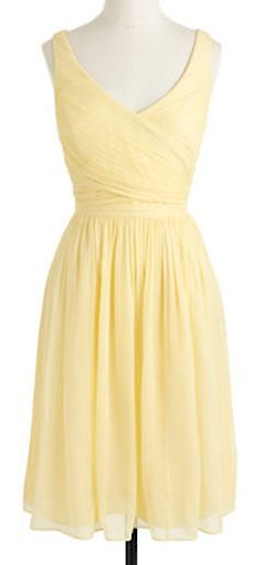 pretty yellow dress