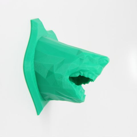 Download on https://cults3d.com #3Dprinting 3D Low Poly Shark Wall Trophy, RubixDesign