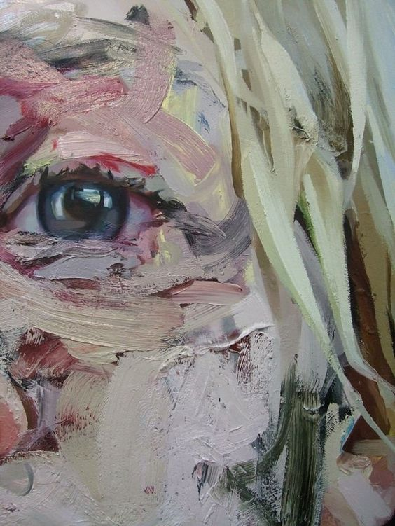 Jenny Saville. On one portrait I could use this technique to show the layers of family/identity in the layers of the materials over the time and technique.