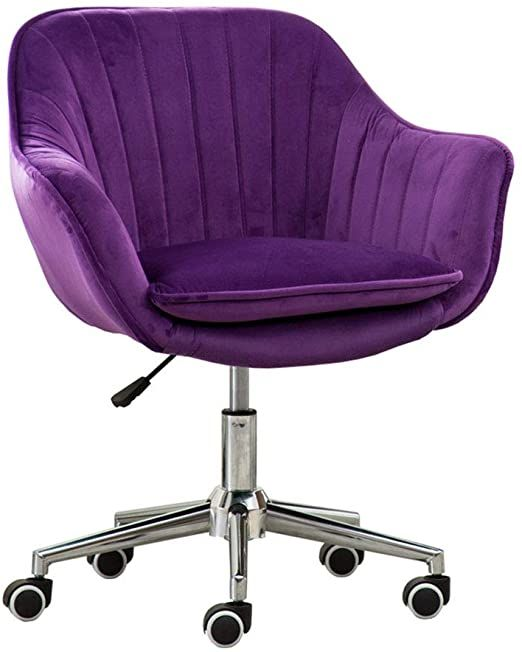 Pin By Sheladarius The Third On Home Purple Home Offices Swivel Office Chair Modern Desk