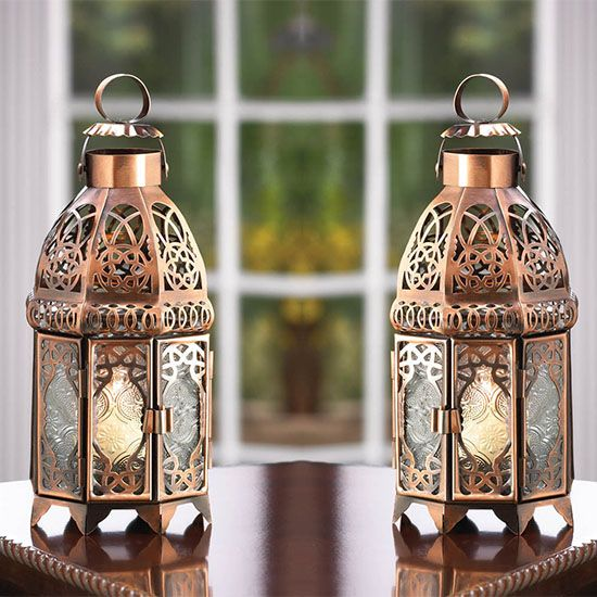 Unique double-door design of the outdoor candle lantern is sure to ...