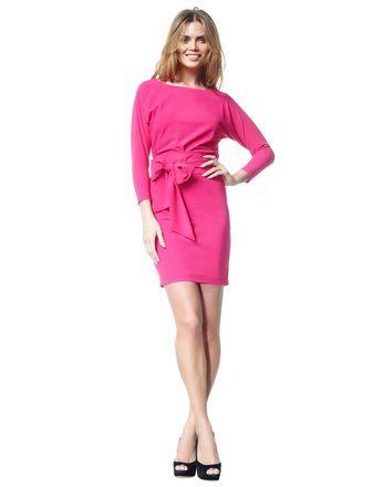 Carla - fel roze - Jersey lycra vlinderjurk | LaDress