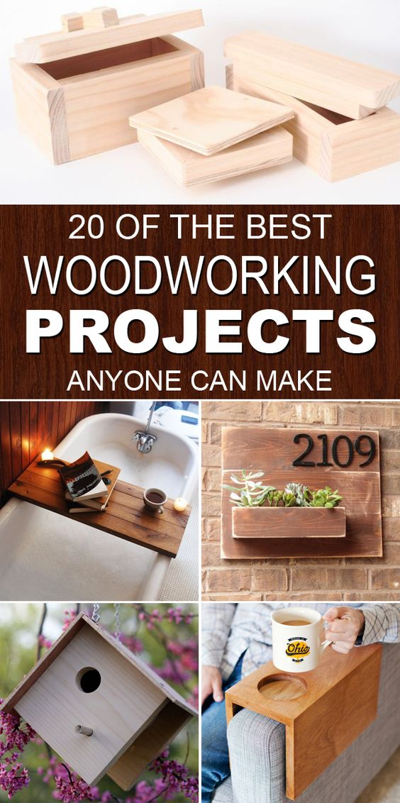 20 of the best woodworking projects for woodworkers and crafters of all skill levels