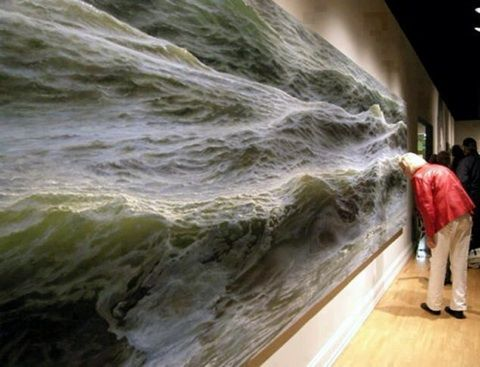 """Take inspiration from 52-year-old artist, Ran Ortner's, 19 foot long """"Open Water No. 24"""" painting. #beautiful #CreativityKick #ranOrtner"""