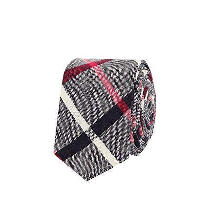 Grey check tie - ties / bow ties - accessories - men