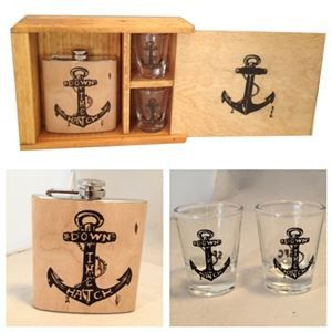 Down the Hatch Flask and Shot Glass Set – Hi Sweetheart