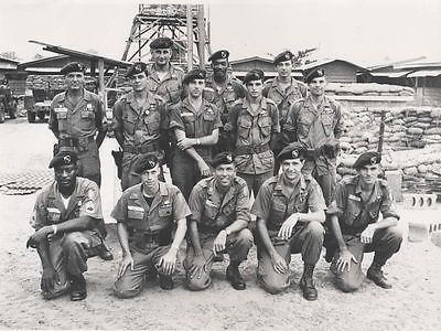 Army Green Berets Special Forces High Gloss Old 8.5x11 Photo Vietnam War U.S