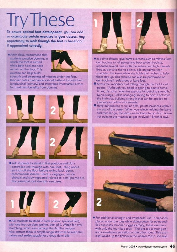 Foot Strengthening: Advice from Dance Teacher Magazine on strengthening your feet.: