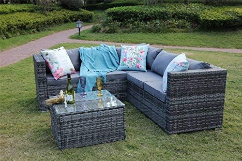 Yakoe 30 Mm 5 Seater Classical Range Outdoor Rattan Patio Furniture Corner Sofa Set With Cover G Rattan Patio Furniture Corner Sofa Set Garden Furniture Sets