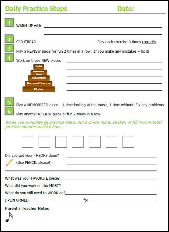 Assignment sheets galore for all ages Piano Teaching Pinterest