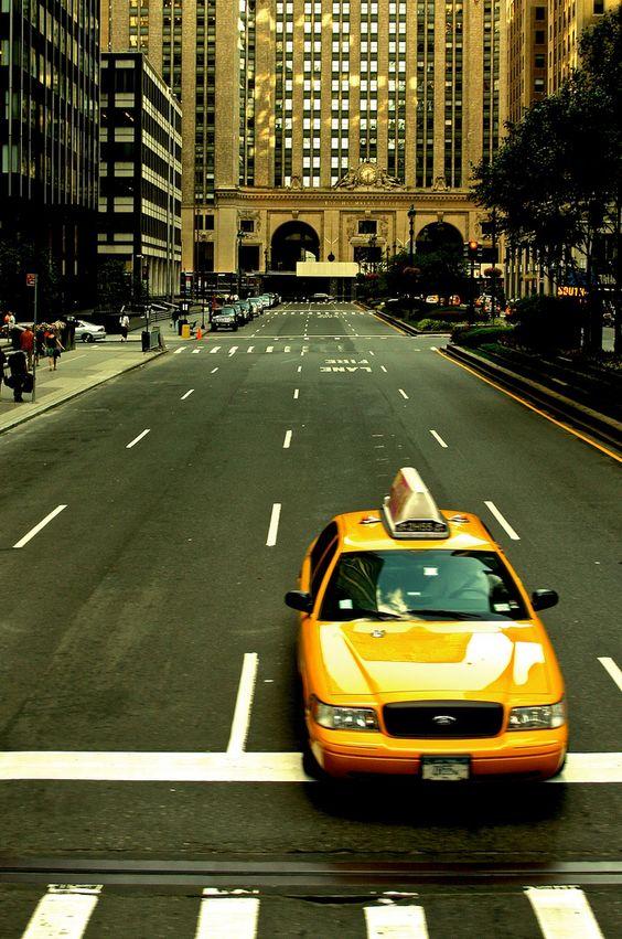 Park Avenue  N Y C ~ Taxi