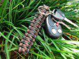 COOL DESIGN!!! Paracord Key Chain Black by Survival straps