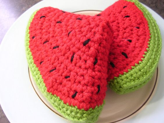 Watermelon slice by KayLMNOP, via Flickr | Kids crochet ...