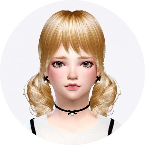 Child thin ribbon choker & earrings at Marigold via Sims 4 Updates Check more at http://sims4updates.net/accessories/child-thin-ribbon-choker-earrings-at-marigold/