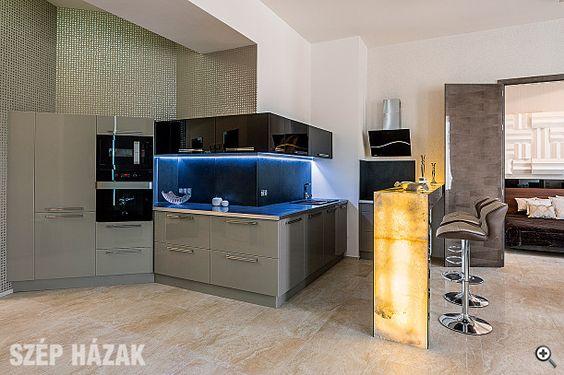 Belvárosi hangulat - Szép Házak konyha Pinterest - küchen mit granit arbeitsplatten