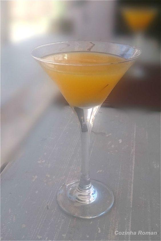 Inferninho Tropical (estamos pensando sobre esse nome) - maracujá, vodka, laranja....tudo de bom!