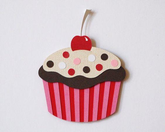 Cupcake Wall Decor Children Wall Decor Matted Art Sweet Treats Pink Cupcake Chocolate Cupcake