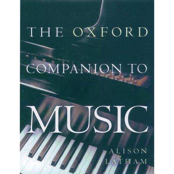The Oxford Companion To Music Tapa Blanda En 2020 Tapas