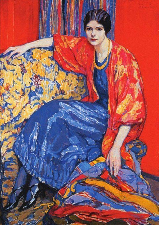 Елена Андреевна Киселёва (1878-1974) Маруся. 1913 г. Воронежский художественный музей им. И.Н. Крамского